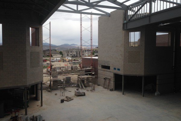 SHS commons area from stairs