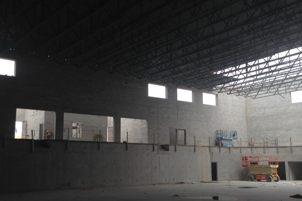 SHS main gym, west entrance (from street side)
