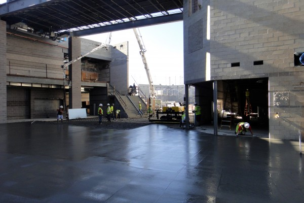 SHS, pouring floor of Commons, Main Office on right