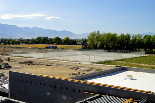 SHS, tennis courts from roof