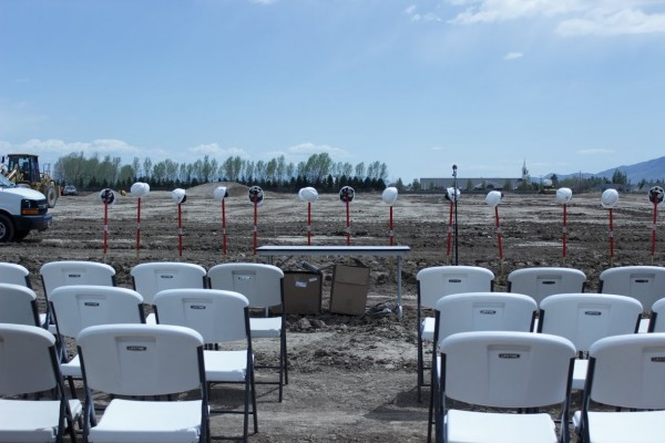 Photo prior to the Skyridge Groundbreaking Ceremony.